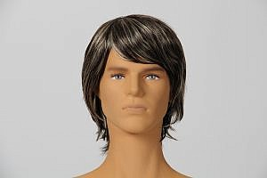 Flexible Male Mannequin New Head Plastic Skin With Make-up & Wig