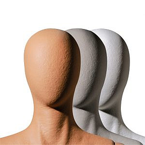 Abstract Heads Plastic Coated Finish