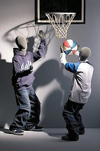 Flexible Kids Abstract Heads Basketball Display