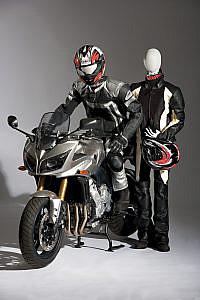Flexible Mannequins Motorbike Display