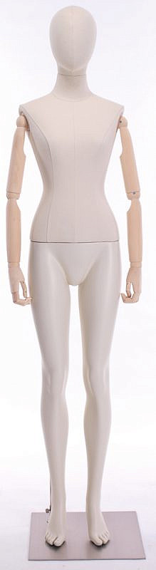 Meta Abstract Female Mannequin Standing Straight